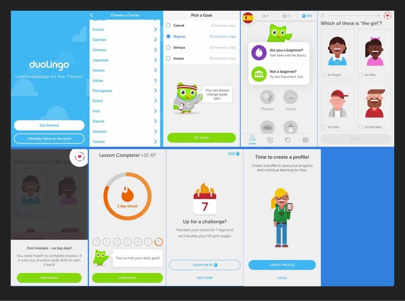 Инструменты обучения в Duolingo