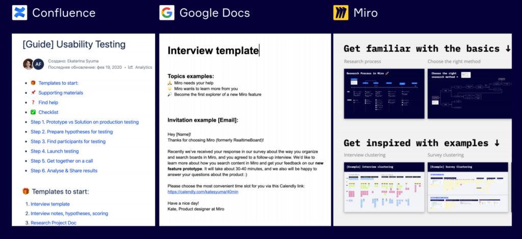 Шаблоны для UX-тестов в miro