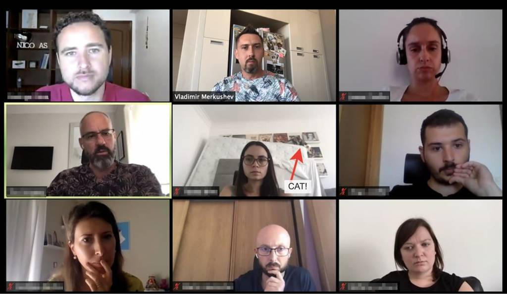 Удаленное совещание в Zoom в OLX Group в Португалии