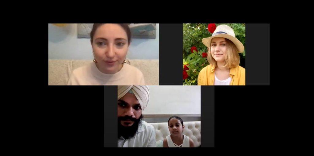 Интервью Анны Ганган с индийской семьей